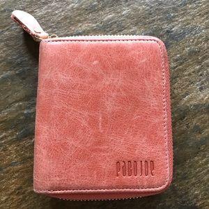 Pabojoe leather zip around wallet EUC